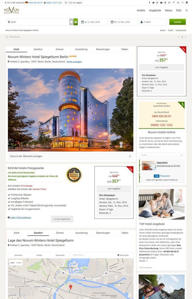 Novum Hotels ScreenShot