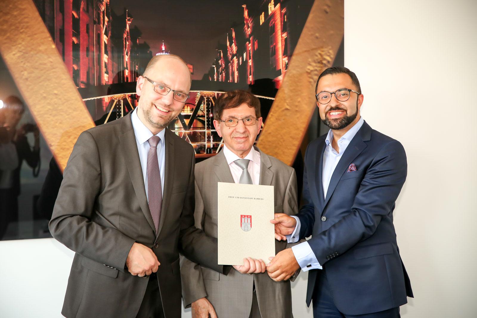 Justizsenator übernimmt Patenschaft für Nader Etmenan Stiftung