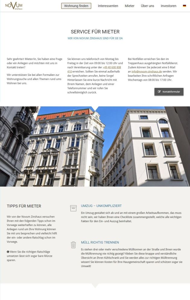 NOVUM Zinshaus ScreenShot