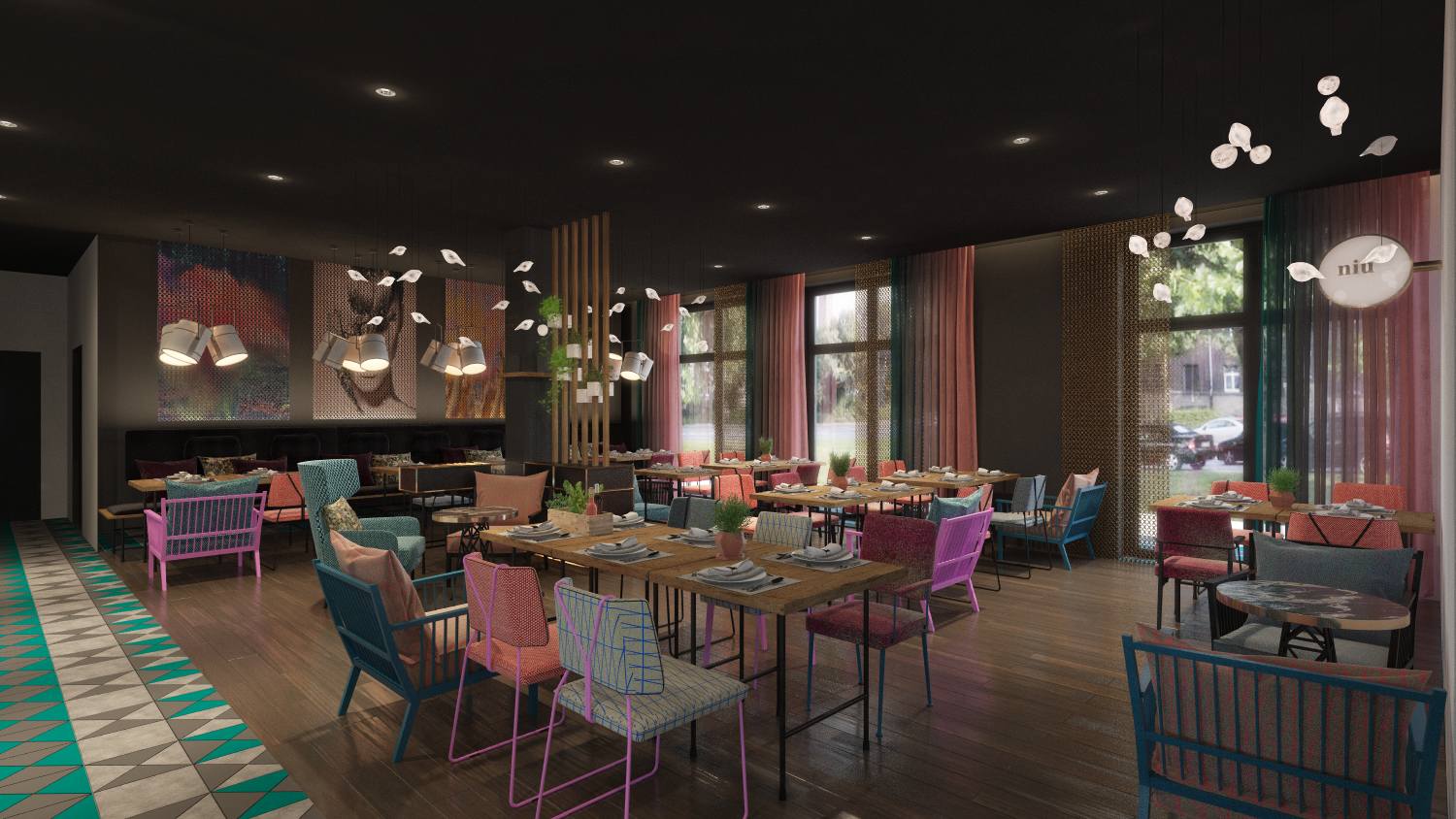 niu by Novum Renderings Public Areas Restaurant