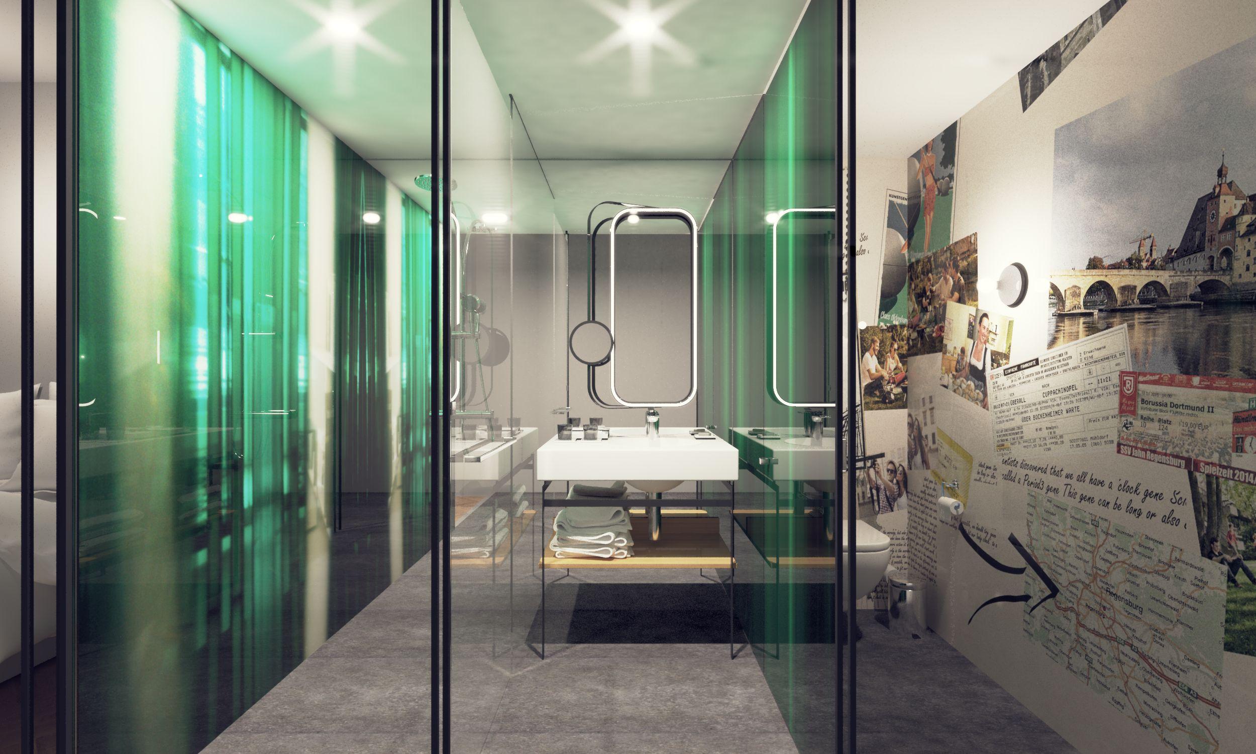 Rendering: niu Hotels Badezimmer